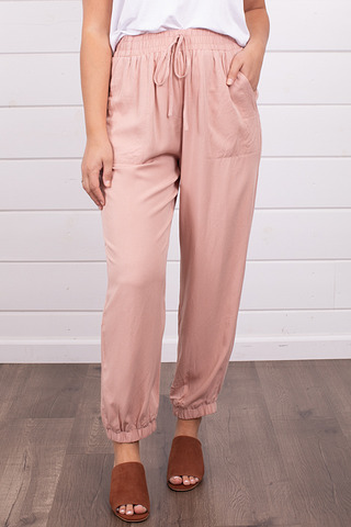 Mystree Rose Relaxed Jogger