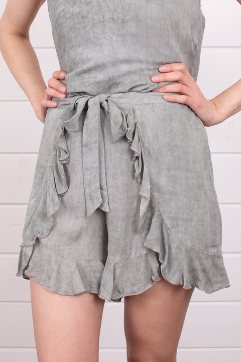 Mystree Sage Ruffle Shorts
