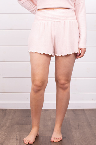 Z Supply Dawn Smocked Short Rose