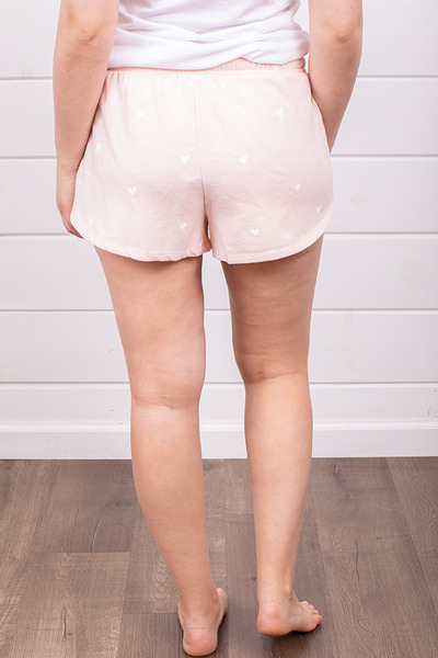 Z Supply Lover Fleece Short Rose 3