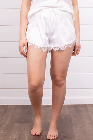 Z Supply Only Love Satin Short Pearl White
