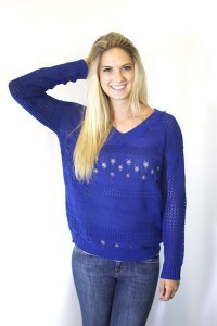 Cobalt Cut Out Cardi