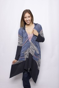 Denim Drapery Cardigan
