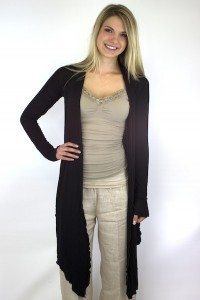 Long Sleeve Crop Drape Cardi