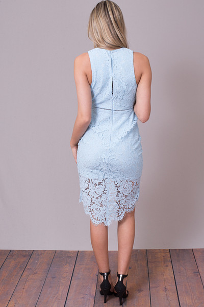 ASTR The Label Sky Blue Caroline Dress 2