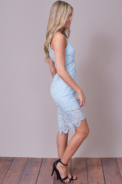 ASTR The Label Sky Blue Caroline Dress 4