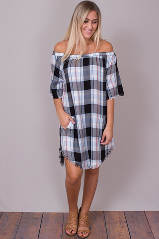 Billy T Pink Plaid Dress