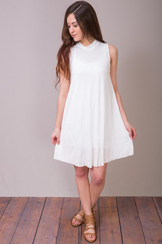 POL Mockneck Swing Dress
