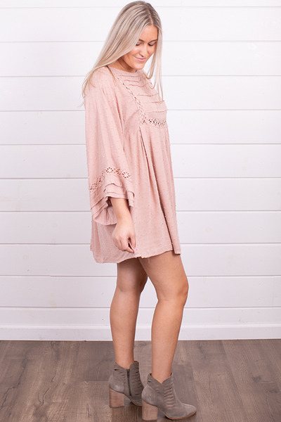 By Together Blush Crochet Dress 4