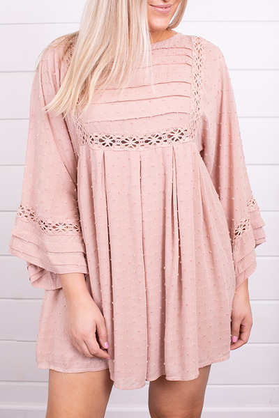 By Together Blush Crochet Dress 2