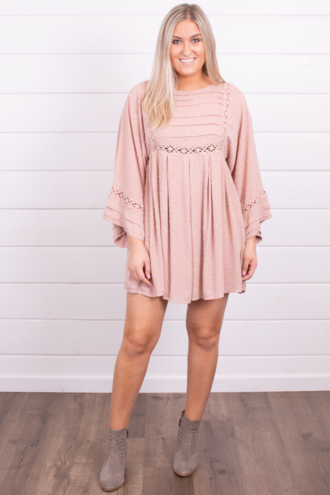 By Together Blush Crochet Dress