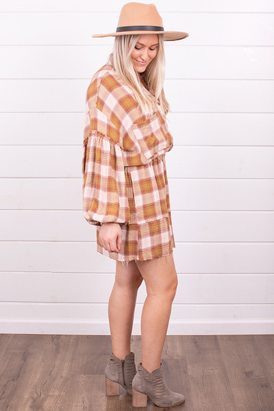 Free People By The Way Plaid Mini 6