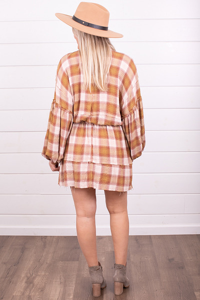 Free People By The Way Plaid Mini 5