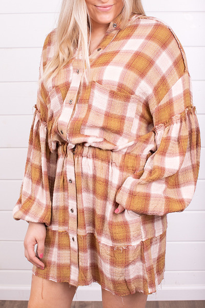 Free People By The Way Plaid Mini 3
