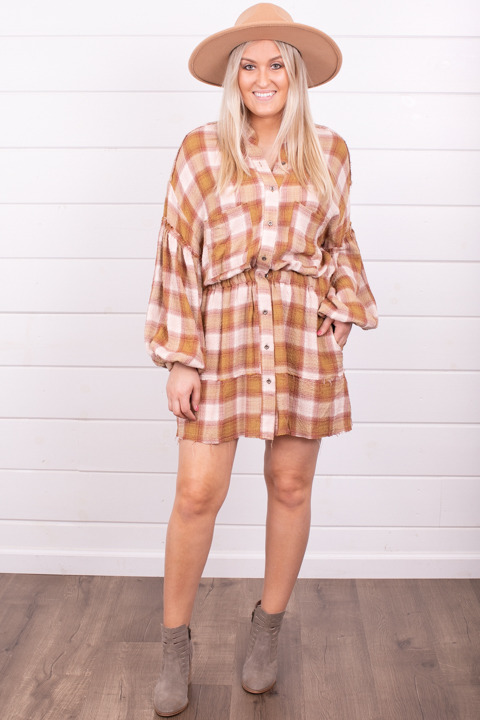 Free People By The Way Plaid Mini