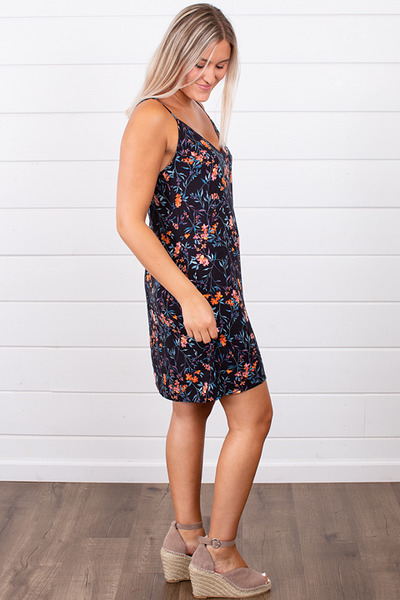 Knot Sisters Monday Dress Summer Nights Floral 4