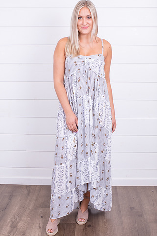Lovestitch Grey Tiered Maxi