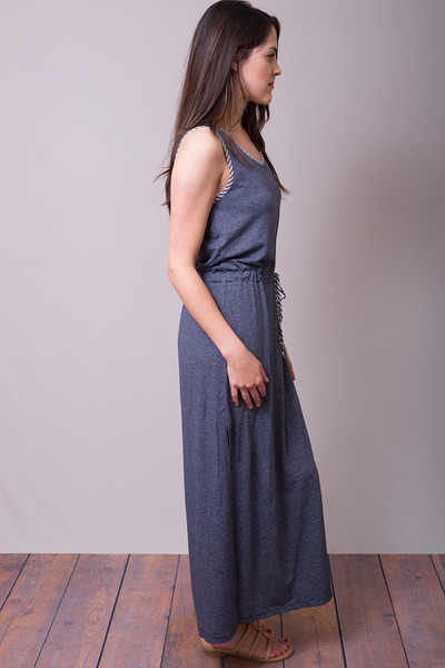 Mystree Blue Slit Dress 2