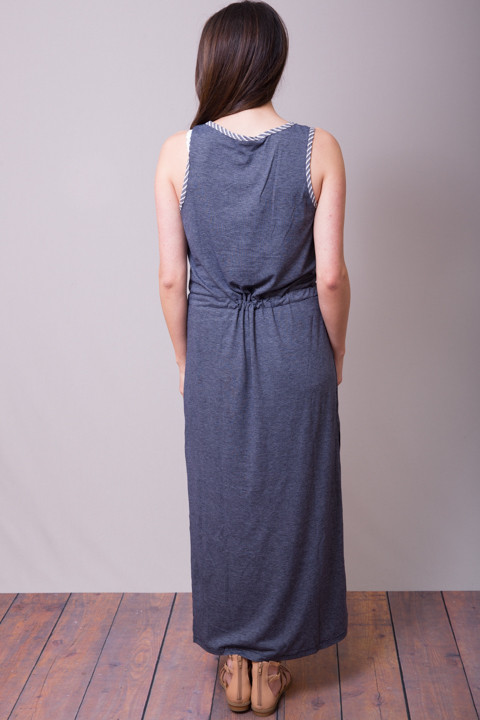 Mystree Blue Slit Dress 3