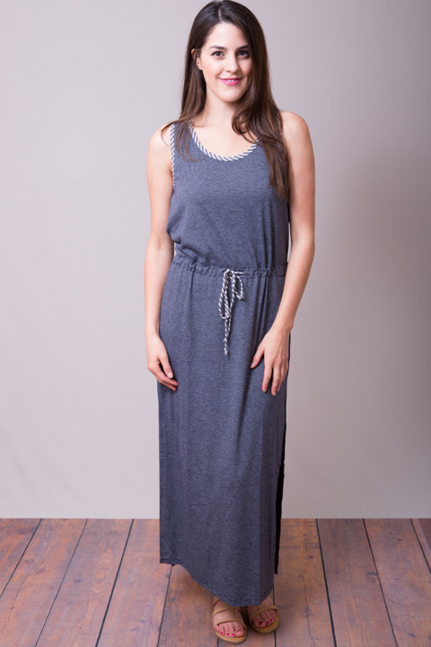 Mystree Blue Slit Dress