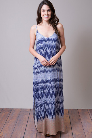 Mystree Chevron Borders Dress
