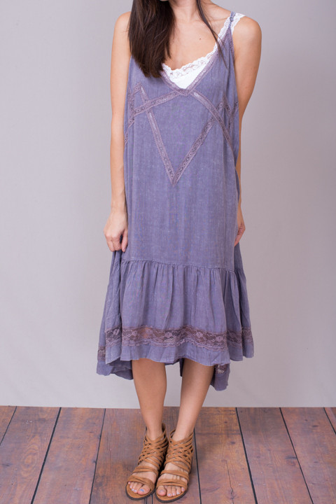 Umgee Lavender Boho Dress 4