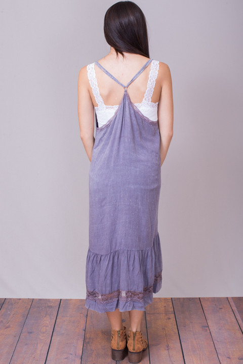 Umgee Lavender Boho Dress 2