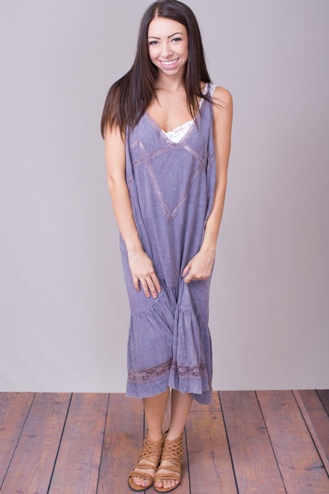 Umgee Lavender Boho Dress