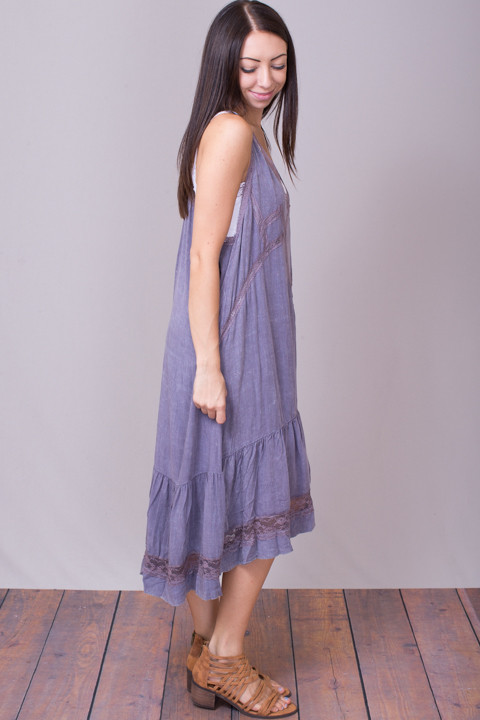 Umgee Lavender Boho Dress 3
