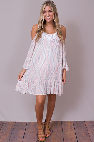 En Creme MultiColor Dress