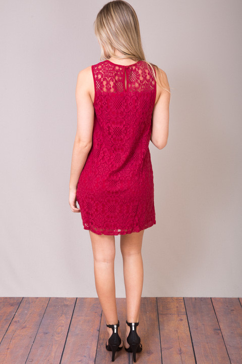 Entro Lacey Wine Dress 2