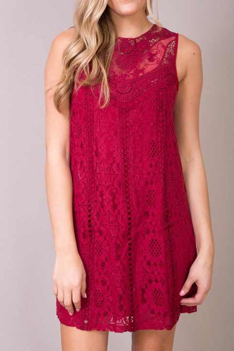 Entro Lacey Wine Dress 4