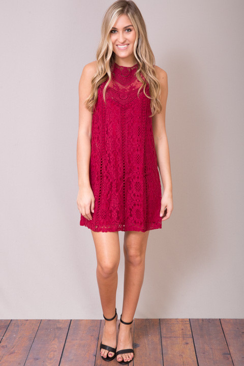 Entro Lacey Wine Dress