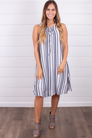 Hem and Thread Gone Boating Dress