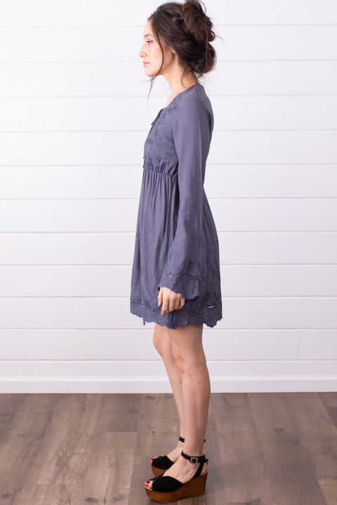 Lovestitch Slate Embroidered Dress 3