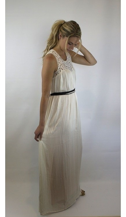 Flying Tomato Lace Maxi Dress with Button Open Back 2