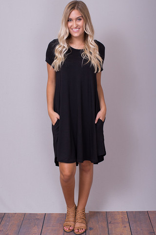 Umgee Short Sleeve A-Line Dress