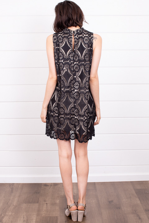 Umgee High Neck Crochet Dress 3