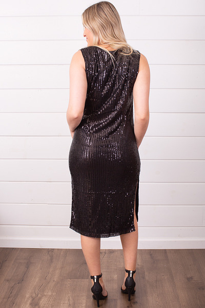Wishlist Apparel Sequin Side Slit Dress 3