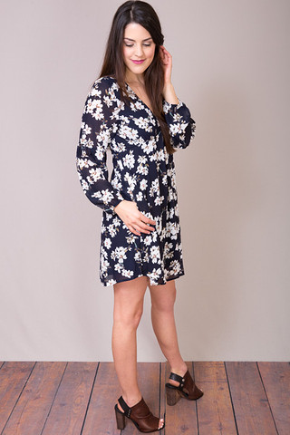 Entro Navy Claire Dress