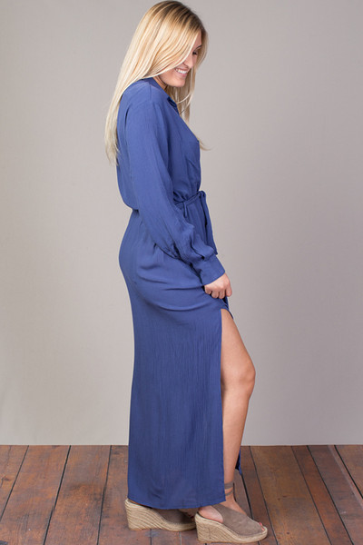 STILLWATER The Darian Shirt Dress Azure 4