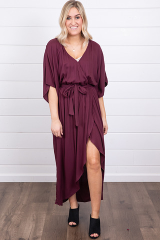 Lovestitch Belted Kimono Maxi Dress