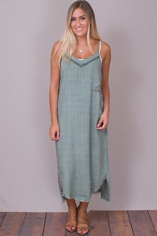 Billy T Sage Slip Dress