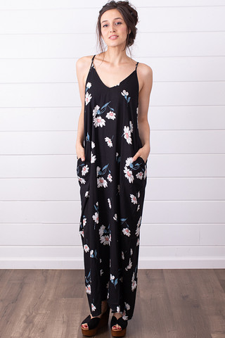 Lovestitch Black Printed Maxi