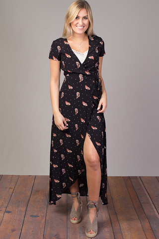 Knot Sisters Black Safari Adeline Dress