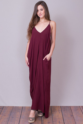 Lace Up Back Maxi Dress