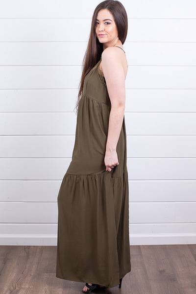 Lovestitch Olive Tiered Maxi 2