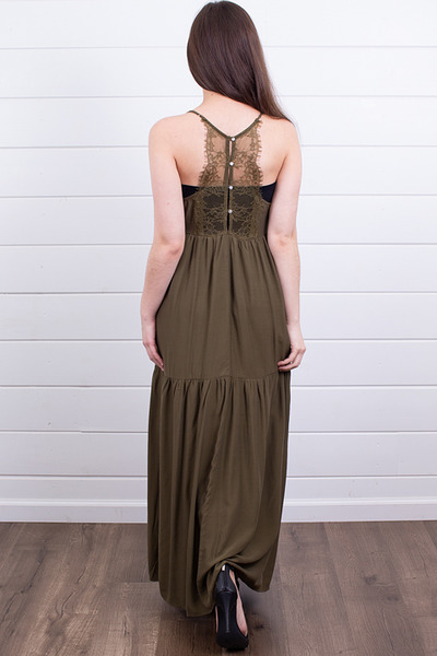 Lovestitch Olive Tiered Maxi 3