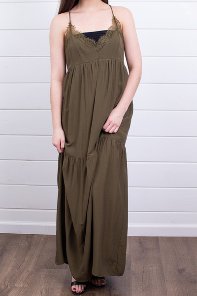 Lovestitch Olive Tiered Maxi 4