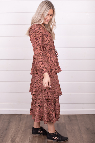 Mystree Leopard Layered Dress 3